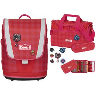 Scout Ultra Set Red Gingham, 4-teillig
