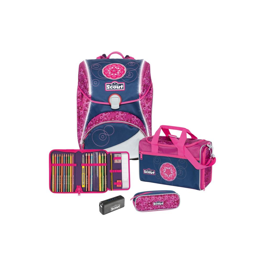 Scout Alpha Safety Light Set Pink Mandala 4-tlg.
