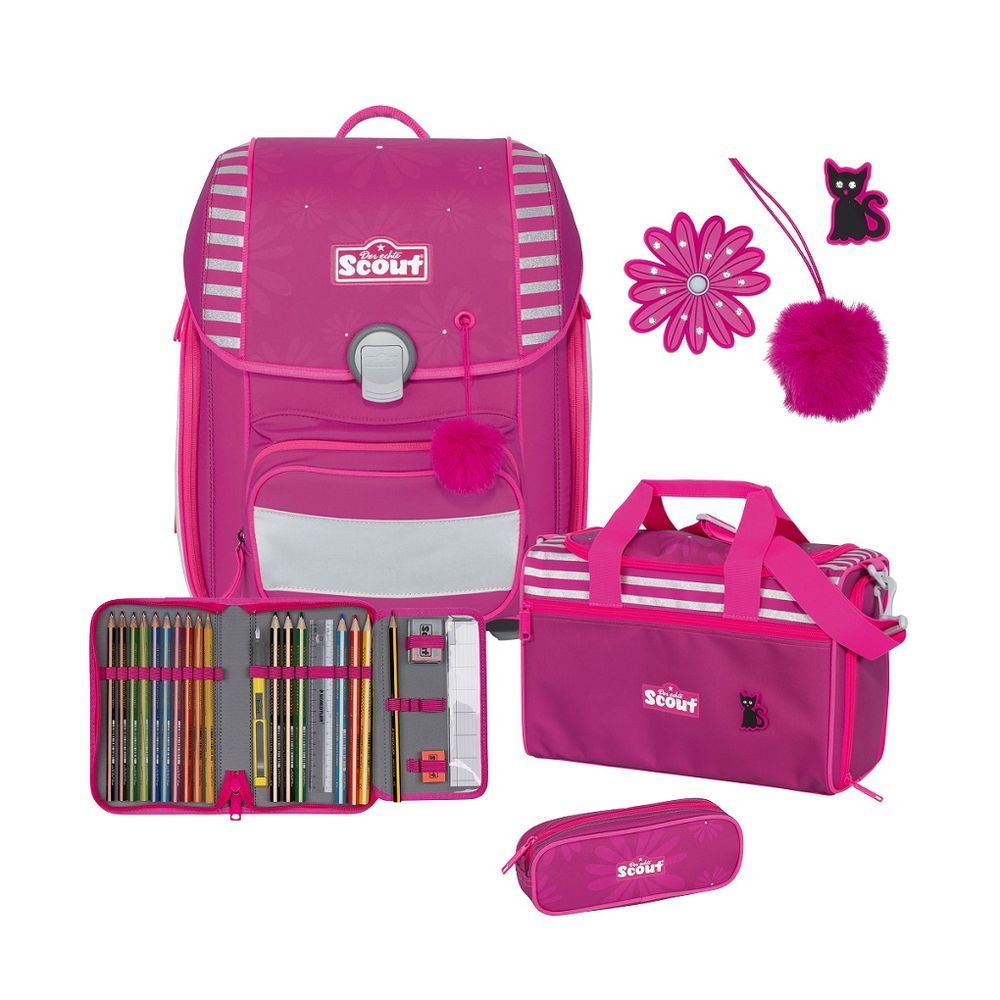 Scout Genius Funny Snaps Set Pretty Pink, 4tlg.